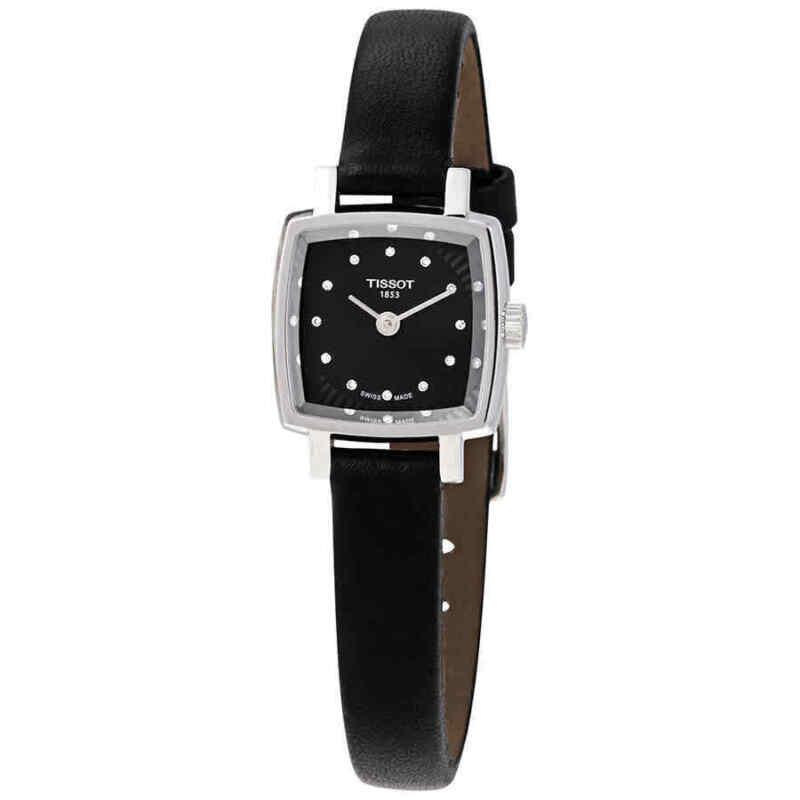 Tissot Lovely Square Quartz Diamond Black Dial Ladies Watch T058.109.16.056.00