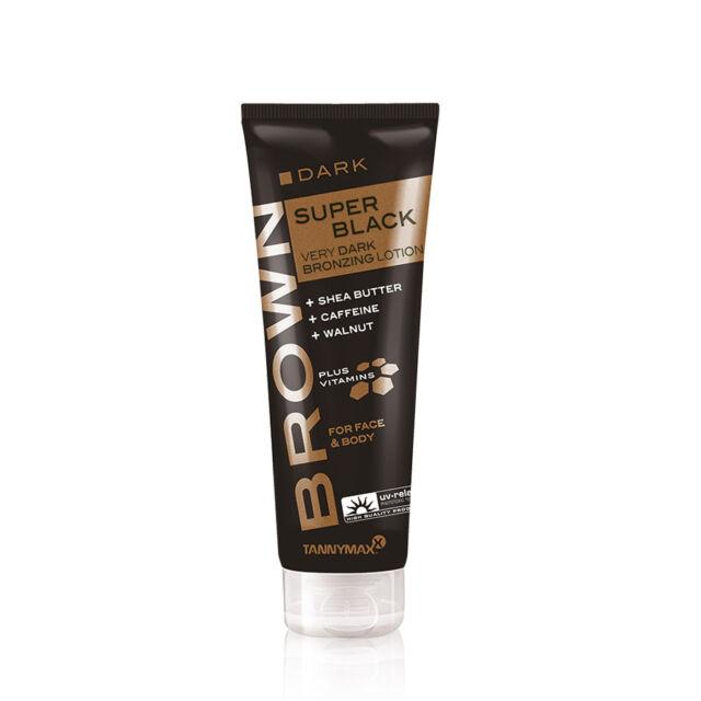 TANNYMAX Super Black Very Dark TANNING ACCELERATOR Lotion Sunbed Cream 125ml