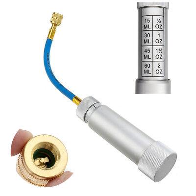 Oil Injector R134A 2oz/60ml Pump Liquid Injection Car A/C 1/4