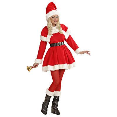 DELUXE WEIHNACHTSFRAU KLEID & MÜTZE # Weihnachtsmann Damen - Weihnachtsmann Kostüm Weiblich