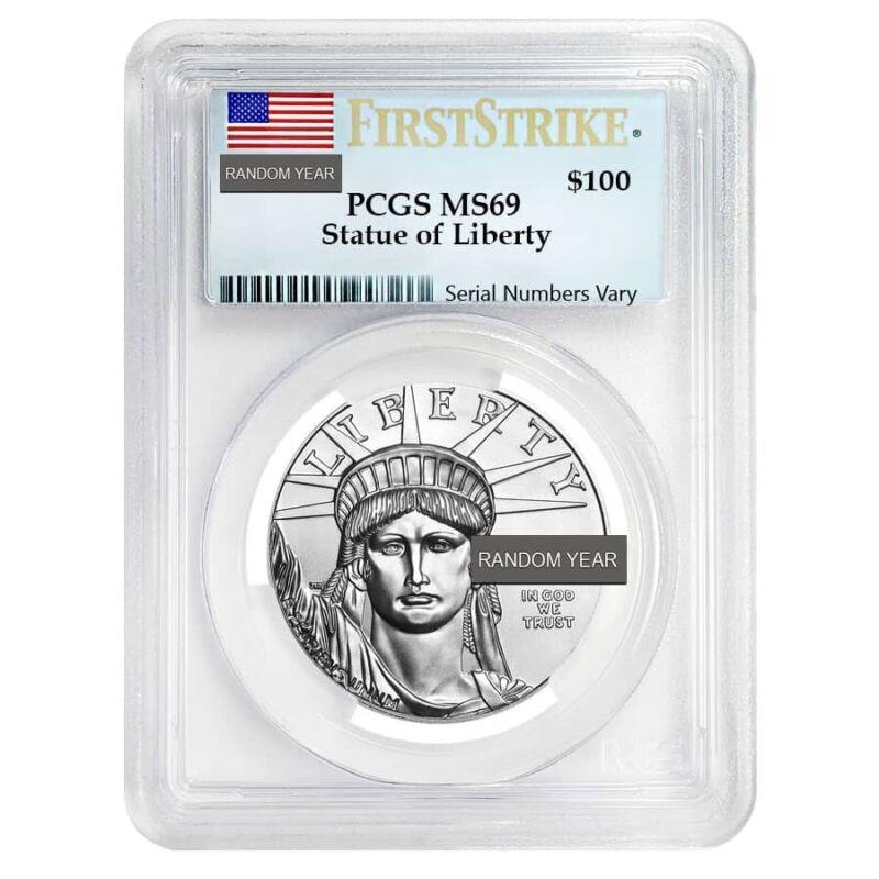 1 oz Platinum American Eagle NGC/PCGS MS 69 (Random Year)