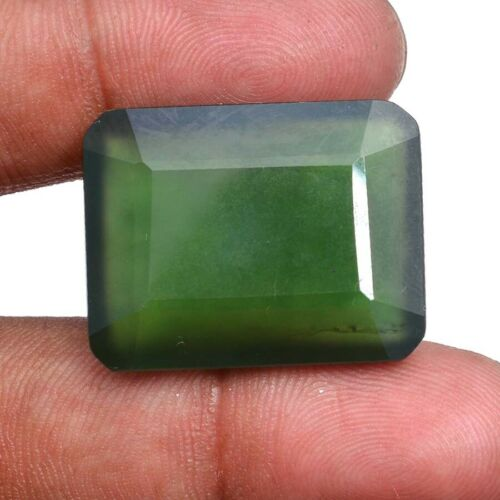 Serpentine Natural 41.00 Cts Untreated Octagon Faceted Cut Huge Size Gemstone