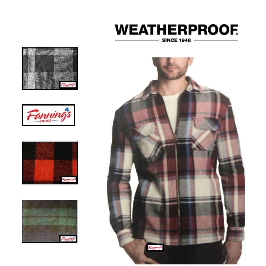 SALE! Men's Weatherproof Vintage Full Zip Flannel Shirt Jack