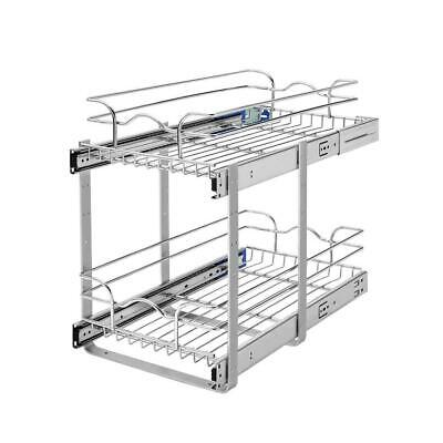 2 Shelf Chrome Cabinet - * Rev-A-Shelf 11.5