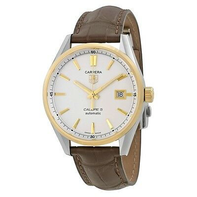 Tag Heuer Carrera Men's 18K Gold Bezel Calibre 5 Automatic Watch WAR215B.FC6181