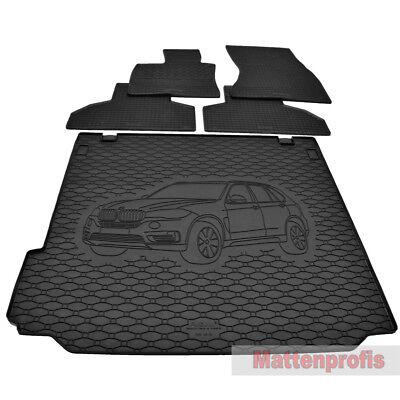 2013 3-teilige Kofferraummatte mit Ladekantenschutz für BMW X5 F15 xDrive Bj