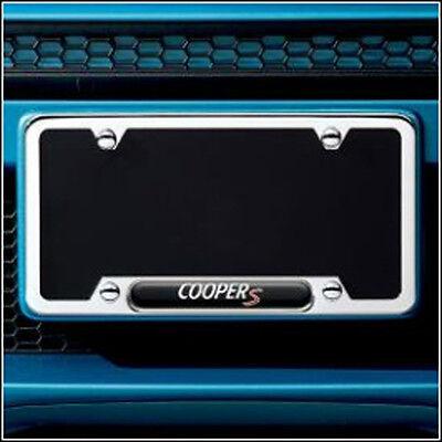 Mini Cooper S License Plate Polished Frame Genuine OEM