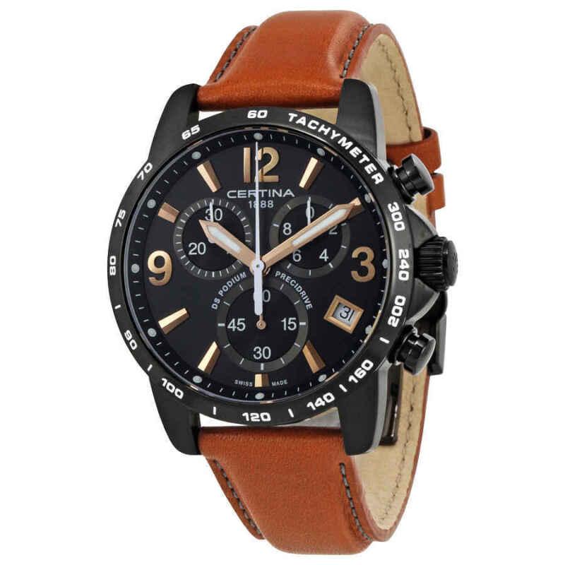 Certina DS Podium Chronograph Black Dial Men Watch C034.417.36.057.00