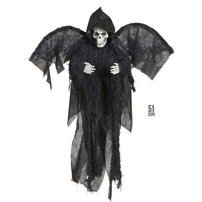 SENSENMANN DEKORATION Halloween Skelett Totenkopf Figur Horror Grusel - Halloween Skelett Dekoration