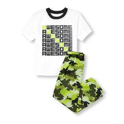 NWT The Childrens Place Awesome Boys Short Sleeve Pajamas Set