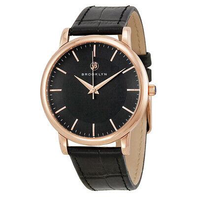 Brooklyn Watch Co. Myrtle Black Dial Swiss Quartz Men's Watch