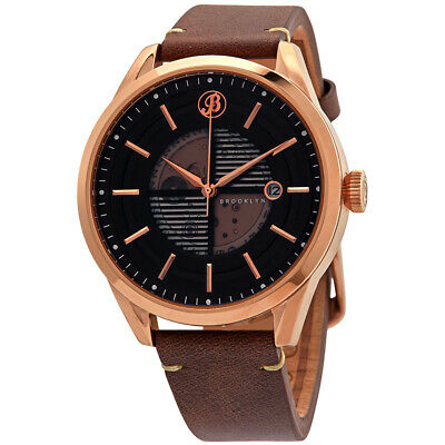 Brooklyn Watch Co. Wyckoff Automatic Black Dial Men's Watch 8353A3
