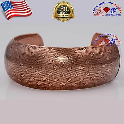 PURE COPPER NON MAGNETIC CUFF BANGLE BRACELET WOMEN ARTHRITIS MADE IN USA SB24 Copper Non Magnetic Wristband