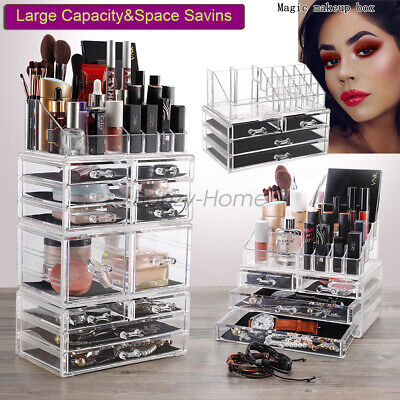 Acrylic Cosmetic Organizer Case Jewelry Makeup Display Holder Drawer Storage Box