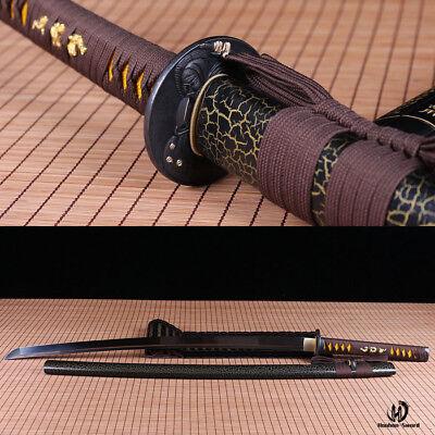 (handmade 1060high carbon steel japanese samurai Katana sword full tang sharpened)