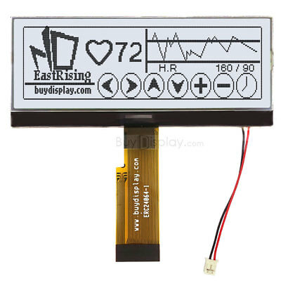 4.3white 240x64 Graphic Lcd Module Displayparallelspi Serial Wtutorial
