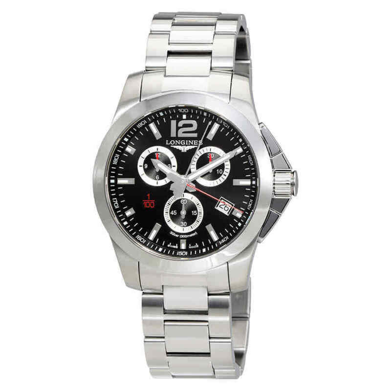 Longines Conquest Chronograph Black Dial Men Watch L38004566