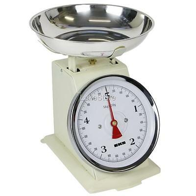 5kg/20g Küchenwaage mechanisch Retro Waage Antik Design Backwaage Haushaltswaage