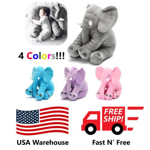 🔥Stuffed Animal Cushion Kids Baby Sleeping Soft Pillow Toy Cute Elephant USA 🔥