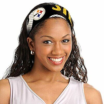 Pittsburgh Steelers Jersey Fanband HEADBAND NFL Women Ladies Team Apparel