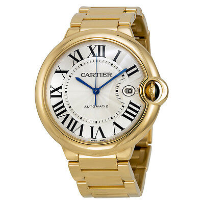 Cartier Ballon Bleu Large 18k Yellow Gold Mens Watch W69005Z2
