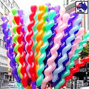 20x Latex Spiral Shape Balloons Balloon Party Wedding Decoration GBALL1701X20