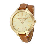 Michael Kors Runway Tan Leather Ladies Watch