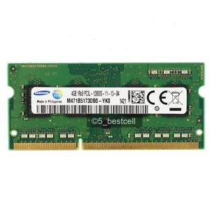 Samsung 4GB PC3L-12800 DDR3L 1600mhz 1.35V SODIMM Laptop Memory