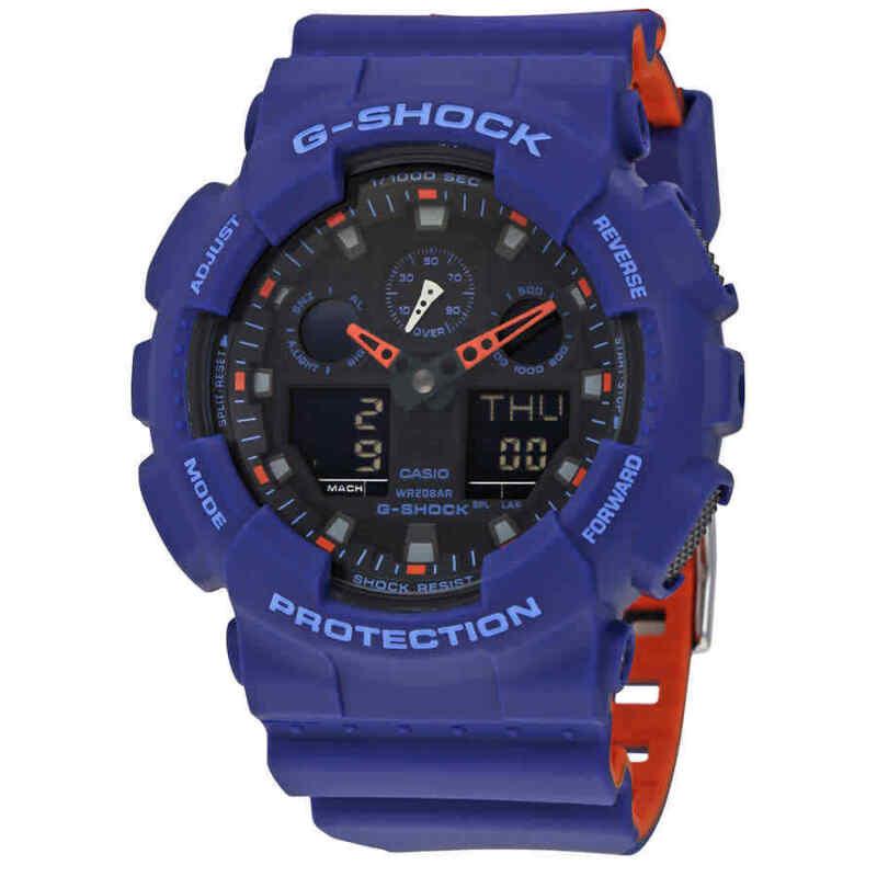 Casio-G-Shock-Blue-Resin-Men-Watch-GA100L-2A