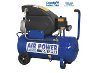 Sealey NA2420E Tools Air Compressor 24 Litre 24L Direct Drive 2HP 230V SAC2420E