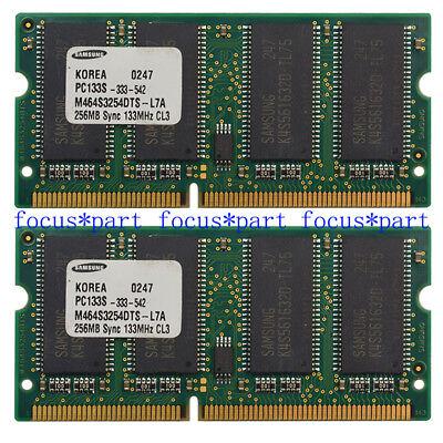 Non Ecc Pc133 Sdram (Samsung 512MB (2X256MB) PC133 144PIN NON-ECC SDRAM Memory RAM SO DIMM 3.3V )