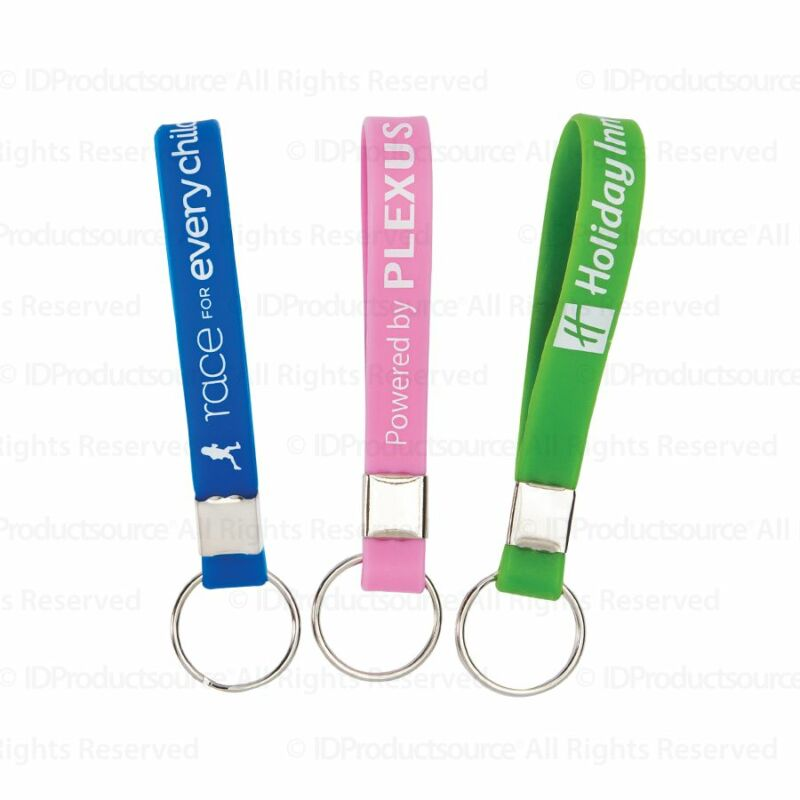 100 Personalized Silicone Key Chains Custom Printed for Your Company or School