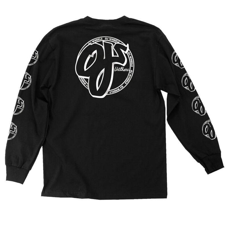 Santa Cruz OJ CROSS LONG SLEEVE Skateboard Shirt BLACK MEDIUM