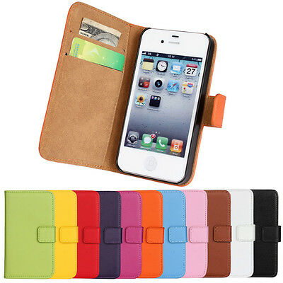 Best Used For iPhone 4/4s Genuine Leather Open Up Case Phone Cover