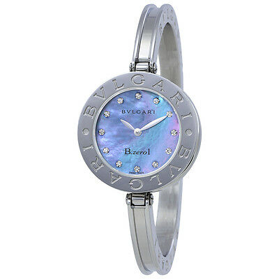 Bvlgari B. Zero1 Mother of Pearl Dial Ladies Diamond Watch 101393