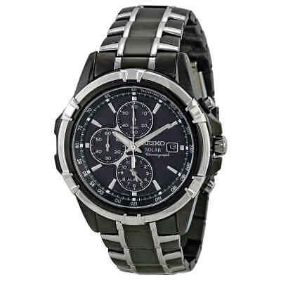- Seiko Solar Chronograph Black Dial Men's Watch SSC143