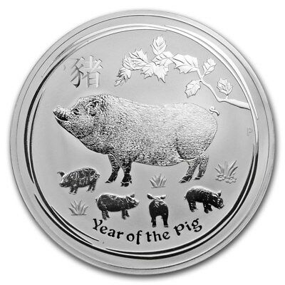 2019 ~ KILO ~.9999 SILVER ~ LUNAR YEAR of the PIG ~ PERTH MINT ~CAPSULE~ $698.88 for sale  West Hollywood