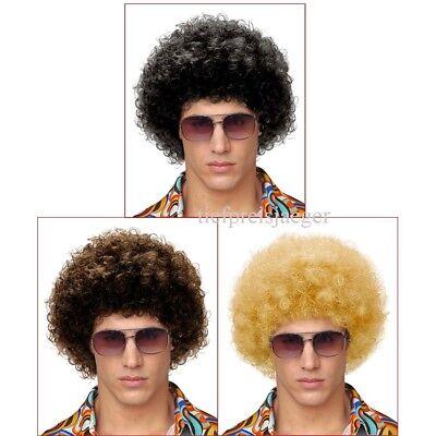 KLEINE AFROPERÜCKE 70er 80er Jahre Damen Herren Hippie Kostüm Afro Perücke 5977