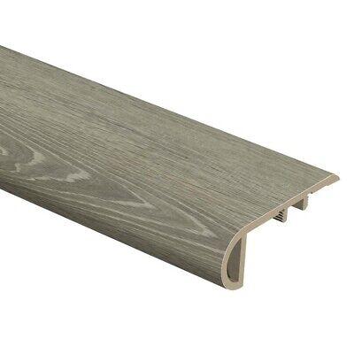 Floor Trim Molding - Sterling Oak Stair Nosing Vinyl Flooring Trim Molding Residential 1x2-1/2x94 in