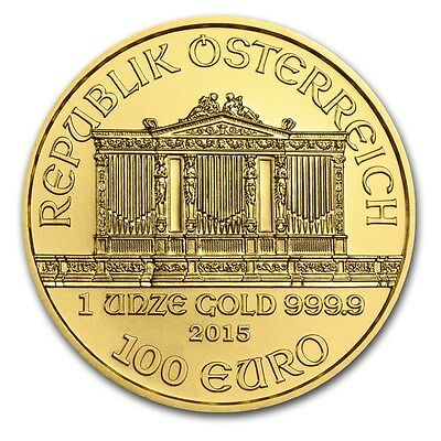 2015 Austria 1 oz Gold Philharmonic Brilliant Uncirculated - SKU #88650