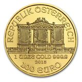 2015 Austria 1 oz Gold Philharmonic Brilliant Uncirculated - SKU #88650