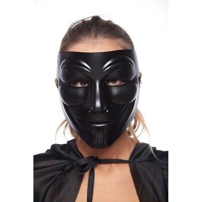 All Black V for Vendetta Guy Fawkes Mask Costume Accessory  - All Black Cat Costume