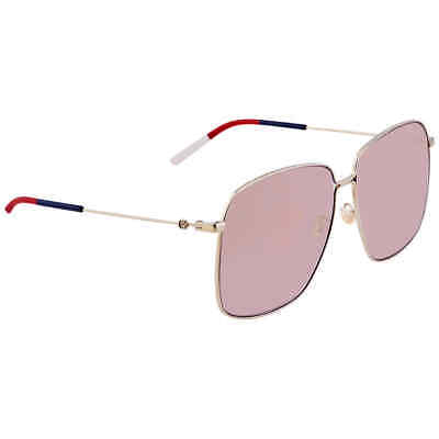 Gucci Pink Oversized Ladies Sunglasses GG0394S 004 62 GG0394S 004 (Gucci Shades Pink)