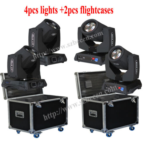 4pcs/flycase 230w 7r Sharp Beam Moving Head Light Touch Screen 16 Ch Dj Lighting