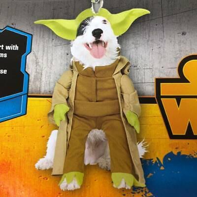 Pet DOG Yoda Halloween Costume Medium M ~ Star Wars Disney ~ Pug Boston Terrier