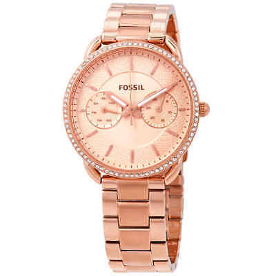 (Fossil Tailor Rose Gold Dial Ladies Multifunction Watch ES4264)