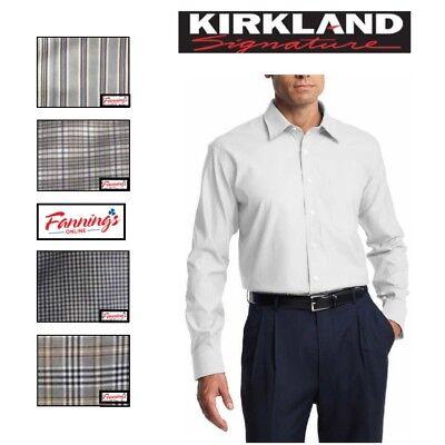 SALE! KIRKLAND Men's Tailored Fit Dress Shirt Long Sleeve VARIETY Size & G52 Dress Shirt Sizes