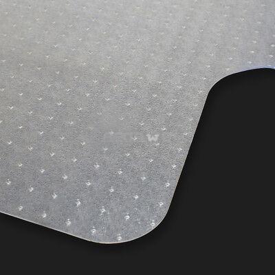 2 PCS 48″x36″ PVC Hard Floor Mat Studded Back 3mm w/ Lip For Pile Carpet Chair Door Mats & Floor Mats