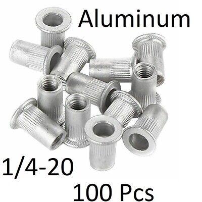 100 Pcs 14-20 Aluminum Flange Nutserts Rivet Nut Rivnut Nutsert