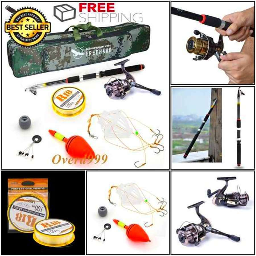 Fishing Rod Case Spinning Reel Combo Tackle Lure Tip Reel